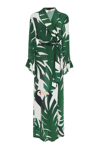 Geometric Foliage Long Robe