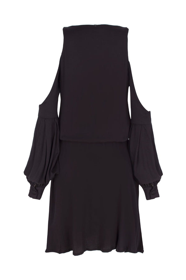 Viscose relaxed silhouette dress is a stylish cover-up for the beach