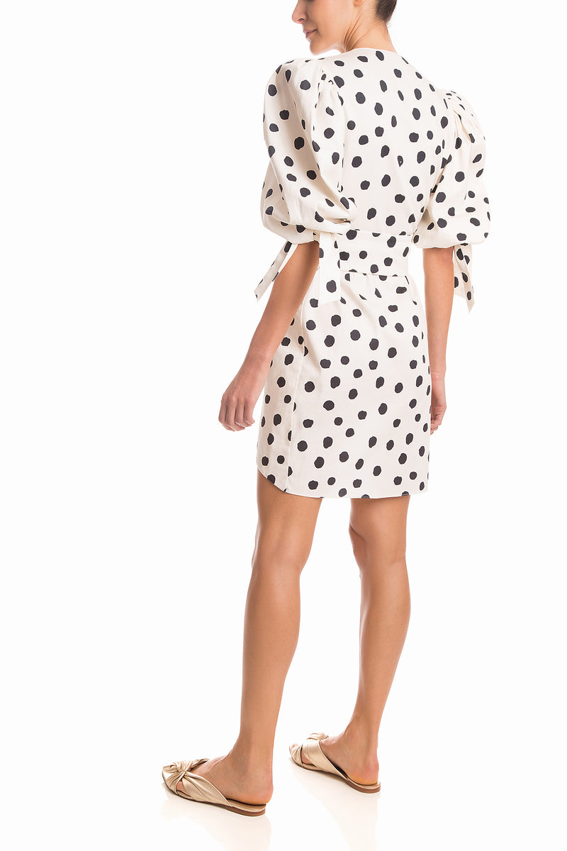 Pois Short Dress With Belt