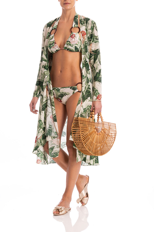 Cult Gaia Tropical Midi Robe