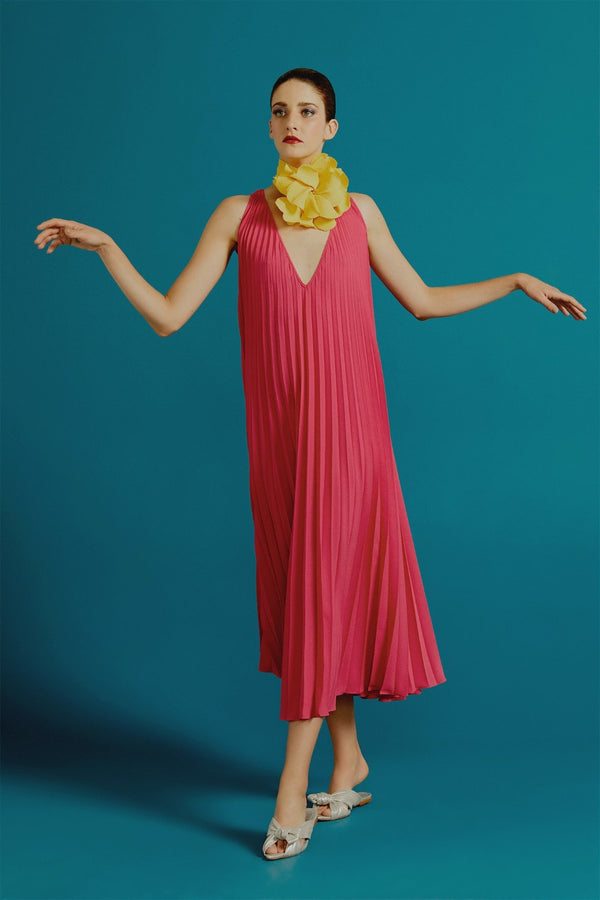 Le Fleur Pleated Long Dress