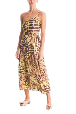 This leopard print wraparound skirt can be worn over a swimwear on vacation but also looks chic styled with a matching shirt