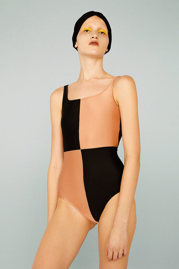 Bicolor Basic Swimsuit