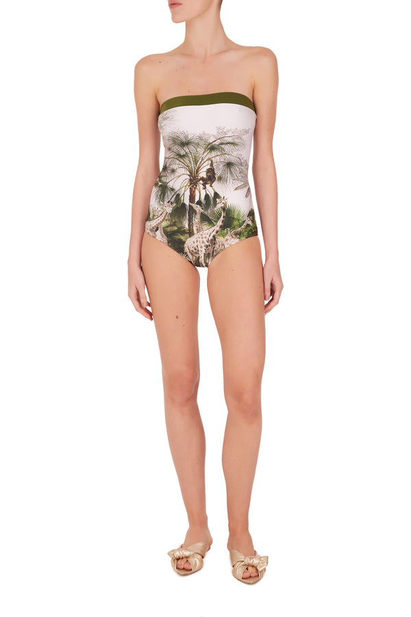 Safari Strapless Swimsuit