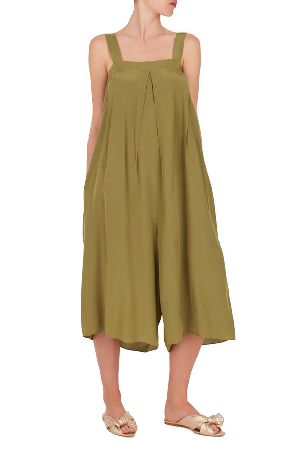 Safari Solid Midi Jumpsuit