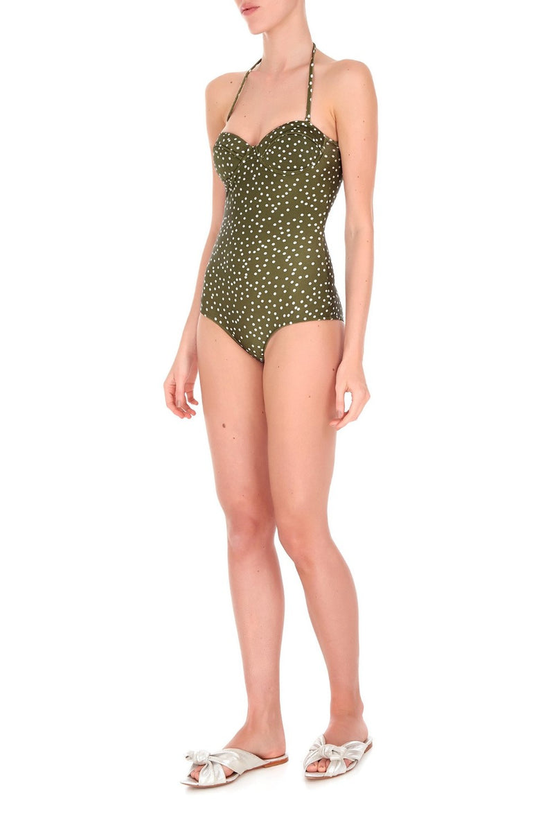 nspired by glamorous divas from Hollywood, this strapless swimsuit is made from stretch fabric- it has a supportive underwired balconette neckline with detachable strap for your perfect fit