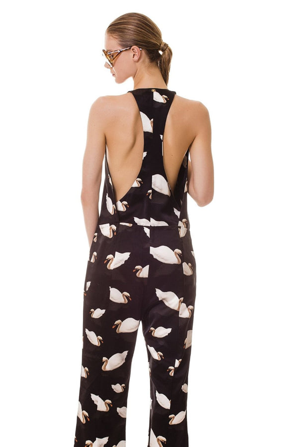 Featuring our exclusive Swan print, this jumpsuit is the perfect pick for a summertime relaxed look