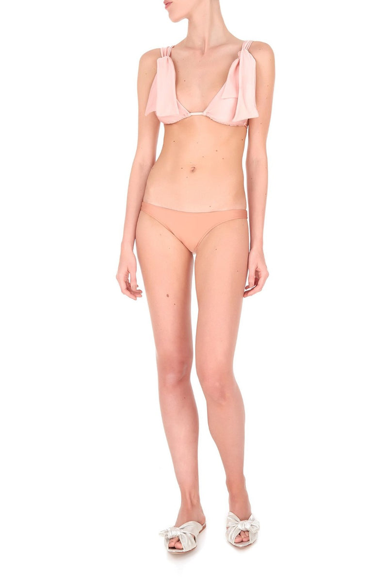 This triangle top bikini is made in Brazil – Adjust the tie-fastening shoulders so it fits securely