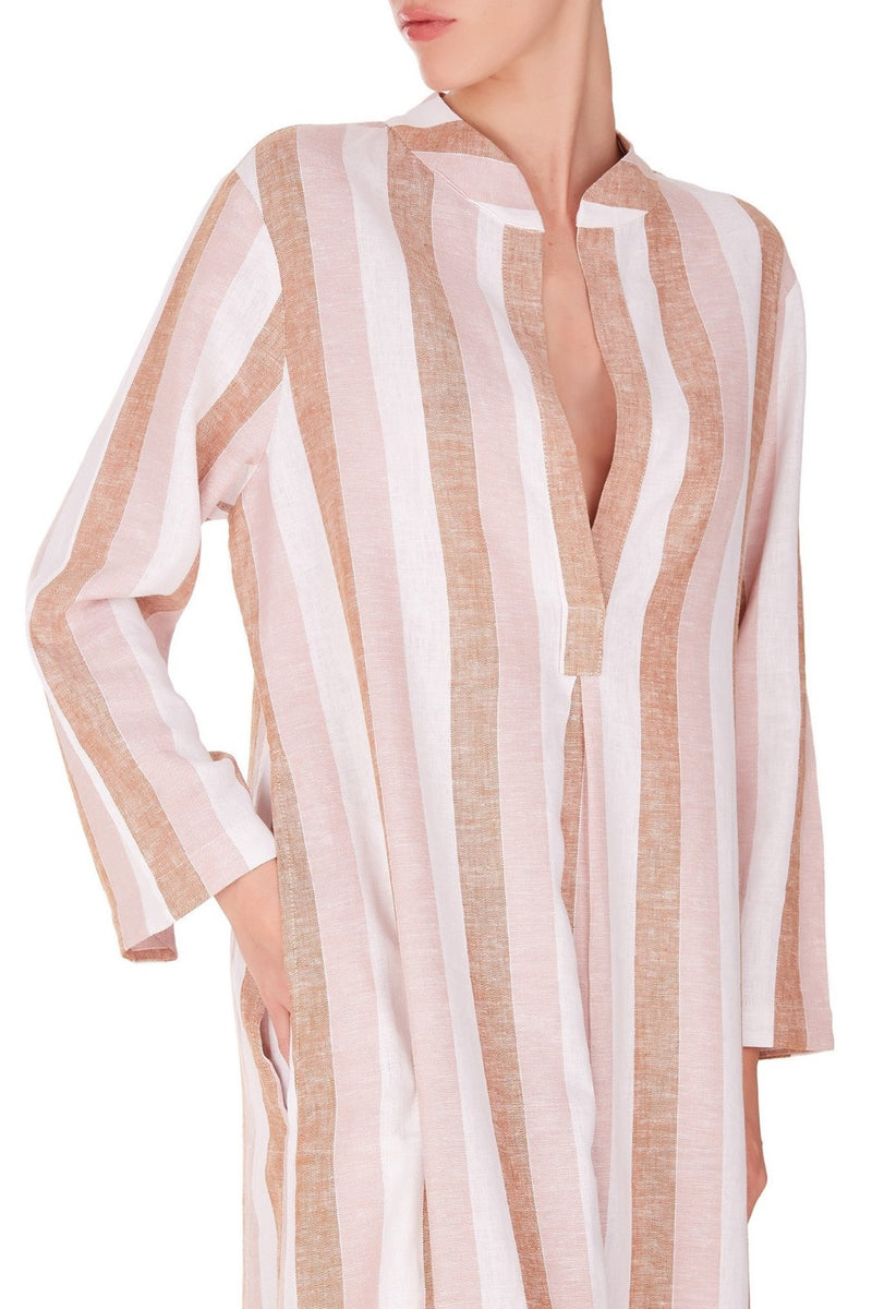 Made in Brazil, this tunic dress has clean lines and is ideal for casual weekend brunches as well as vacation styling