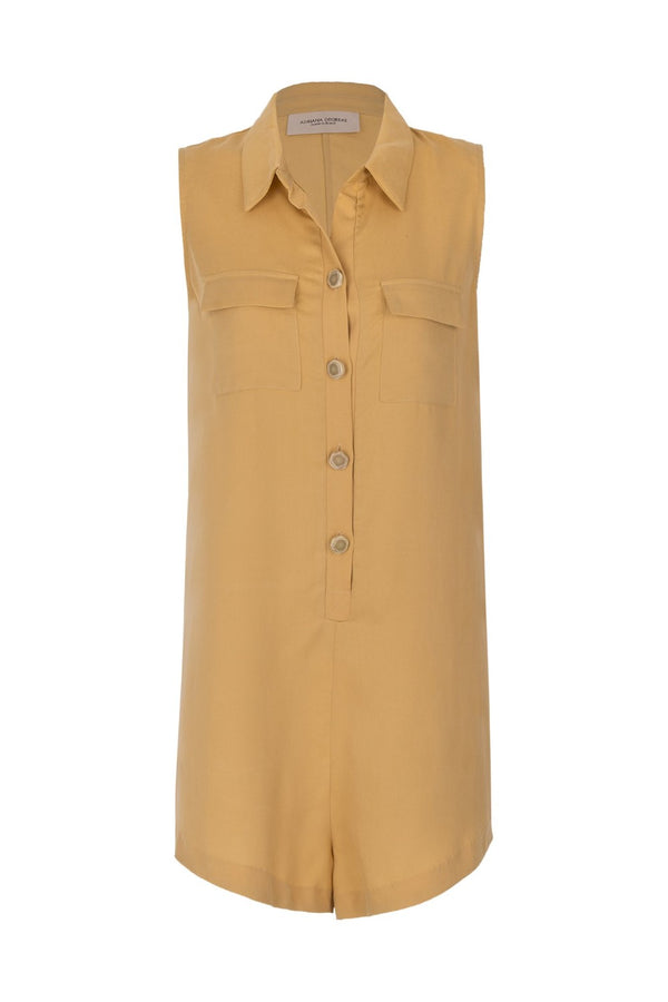 This fun and contemporary military style playsuit is cut to a loose and relaxed fit that is essential for your summer wardrobe