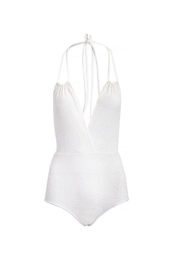 Sequins Halterneck Swimsuit