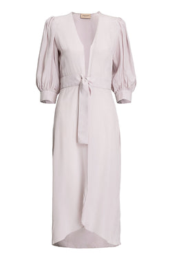 This timeless and elegant robe was inspired by Italian Riviera, is crafted from silk and falls to a midi length