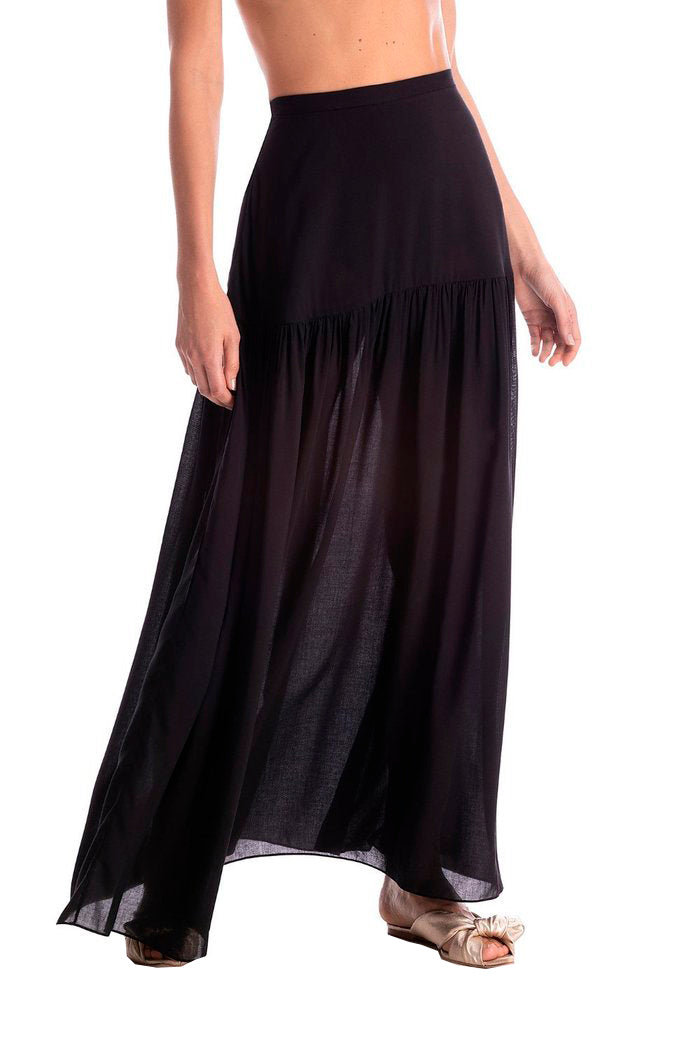 Solid Long Skirt