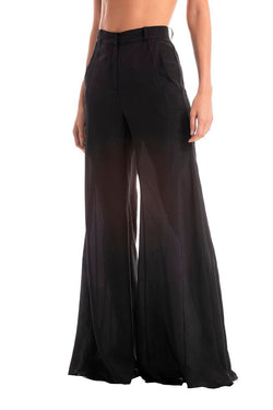 Solid Wide-Leg Pants