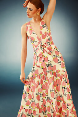 This effortless chic dress is printed with the joyful and irreverent Strawberry print from our summer collection