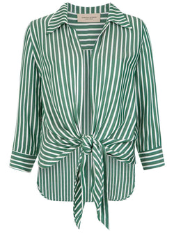 Pair this striped shirt with the matching trousers or skirt over your bikini and get the tropical mood of the Brasiliana summer 18 collections