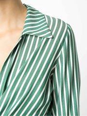 Striped Shirt with Knot Detail