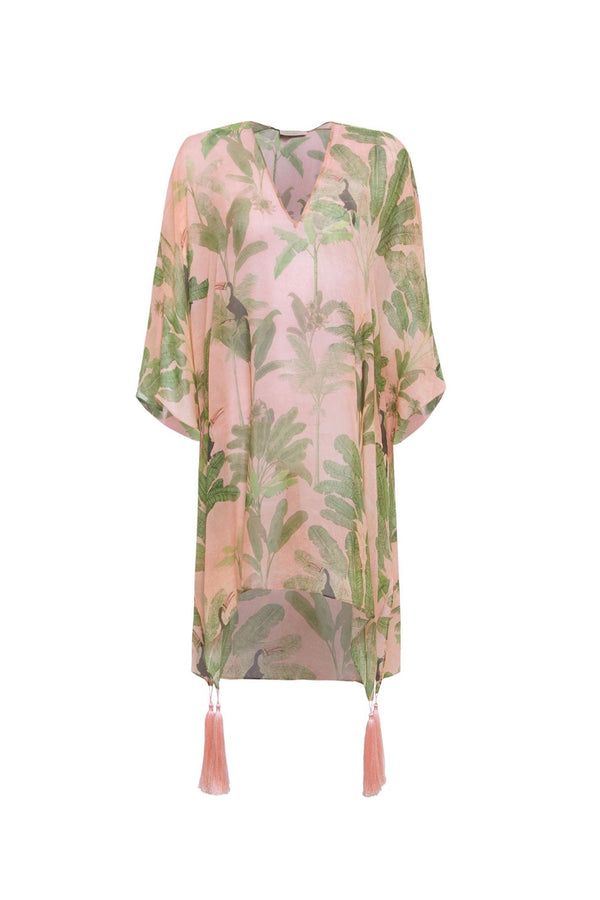 Toucan Short Kaftan With Tassels