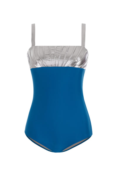 Silver Detail Swimsuit With Straps