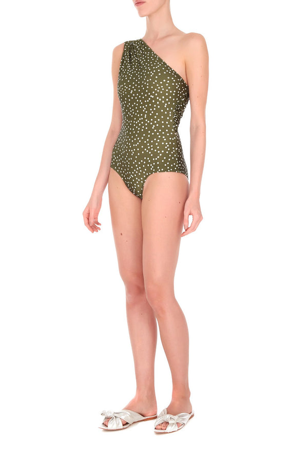 Mille Punti One Shoulder Swimsuit