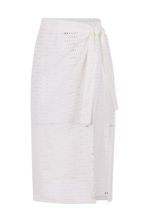 Perfect for summer vacations, this cotton wrap skirt is so chic and easy to wear – you can simply knot it around your waist