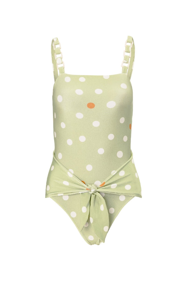 This swimsuit comes with wide waist ties for an elegant and flattering silhouette- this piece is made in Brazil with stretch fabric and acrylic details