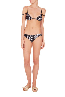Imagine this triangle set zebra bikini packed in suitcases for the most exotic summer escapes