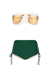 Bananas Detail Hot Pants Bikini with Side Ties