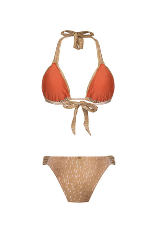 Horse Skin Long Triangle Bikini