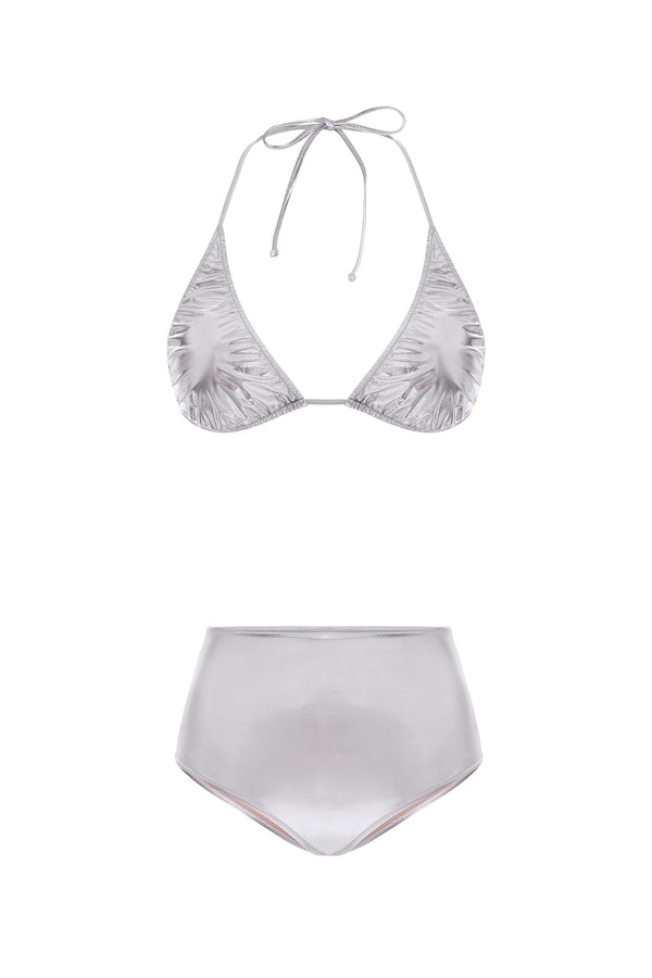 Silver Hot Pants Bikini