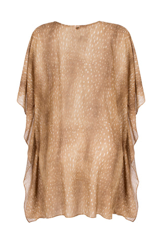 Horse Skin Short Cape with Braid Detail