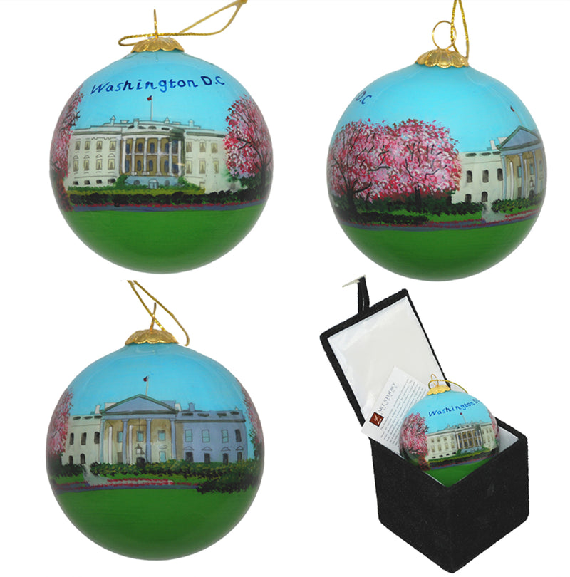 White House Glass Ornament