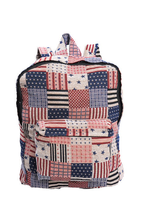Patriotic Patch Back Pack Bag