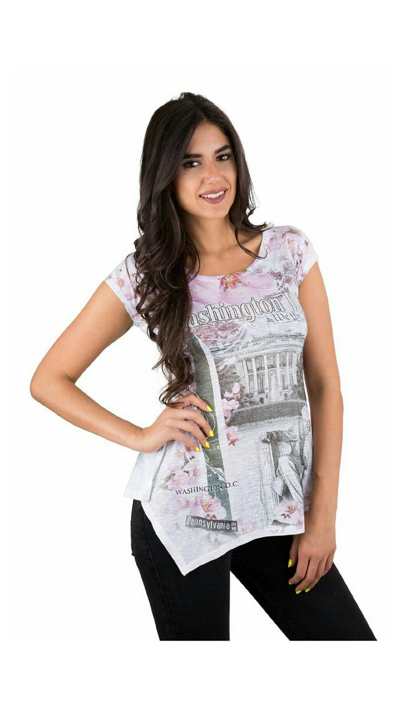 Ladies Cherry Blossom Sublimation T-Shirt