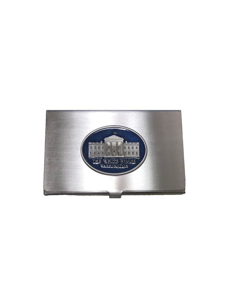 White House Pewter Business Card Holder