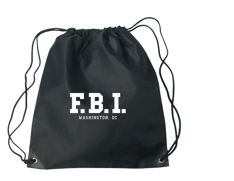 FBI Drawstring bag