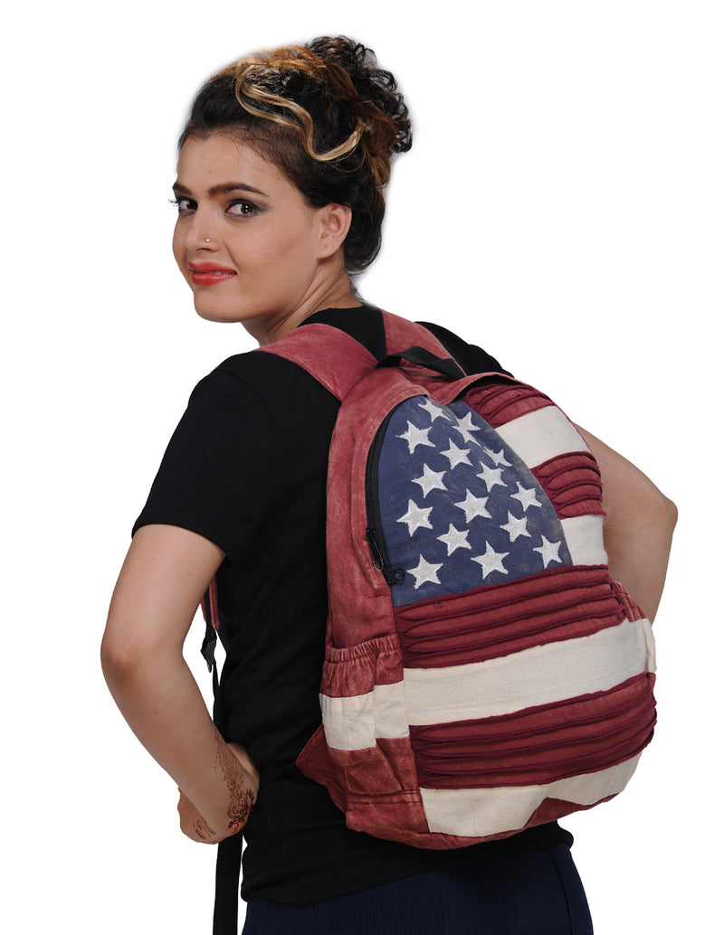 USA Flag Back Pack