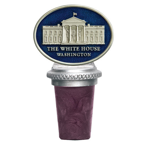 White House Oval Pewter Bottle Stopper