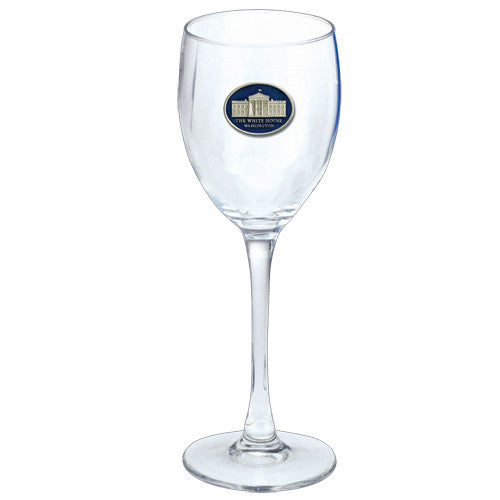 White House Medallion Wine Glass