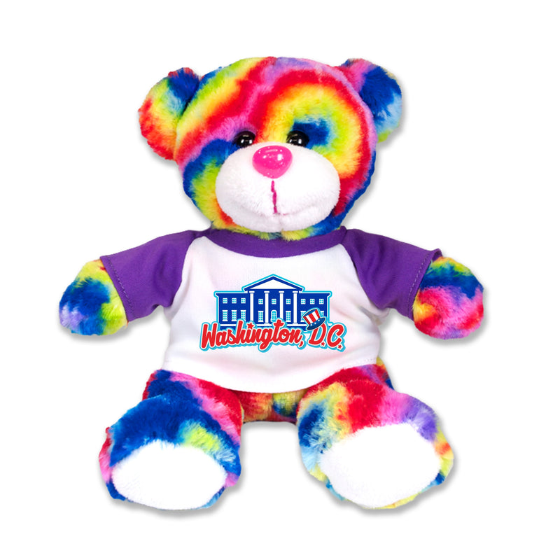 Tie Dye Washington DC Bear