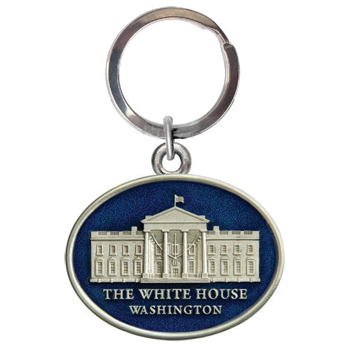 White House Oval Pewter Keychain