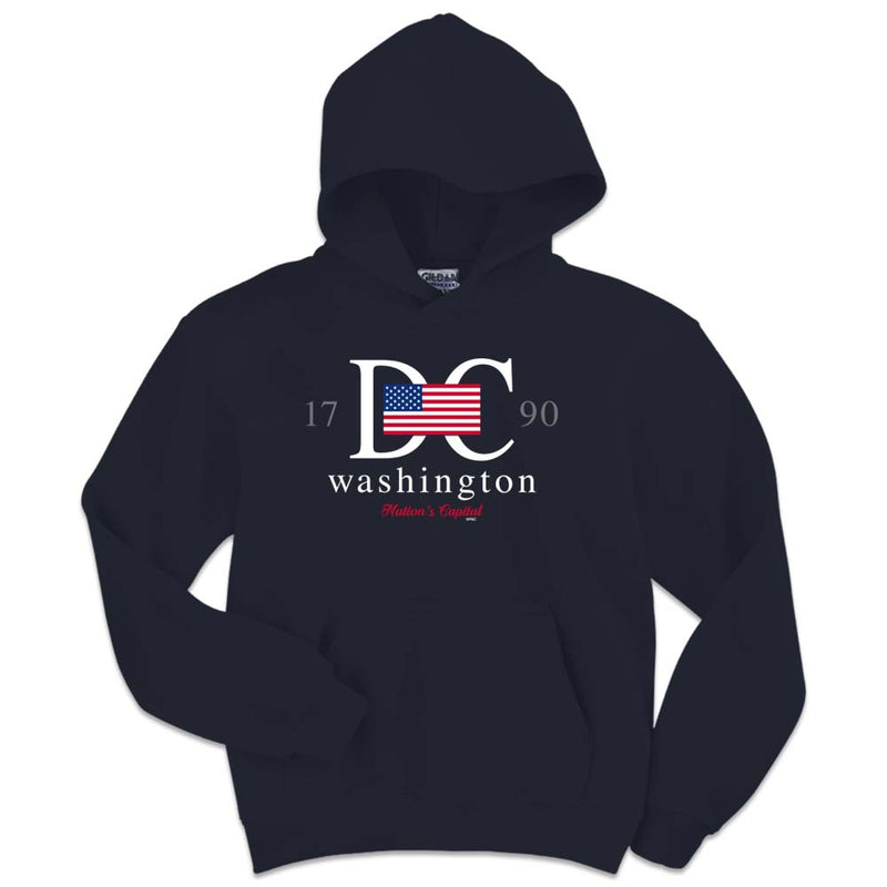Washington DC Flag Youth Hoodie - YOUTH SIZES ONLY!