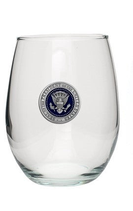 Glass-Presidential Seal Pewter Wine Tumbler