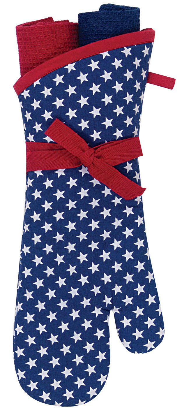 America Over Sized 3 PC Oven Mitt Set