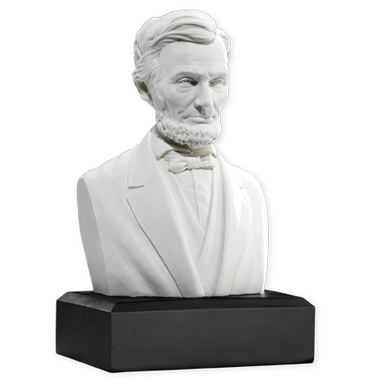 Abraham Lincoln Bust | White Bust of Abraham Lincoln | Collectible Bust of Abraham Lincoln