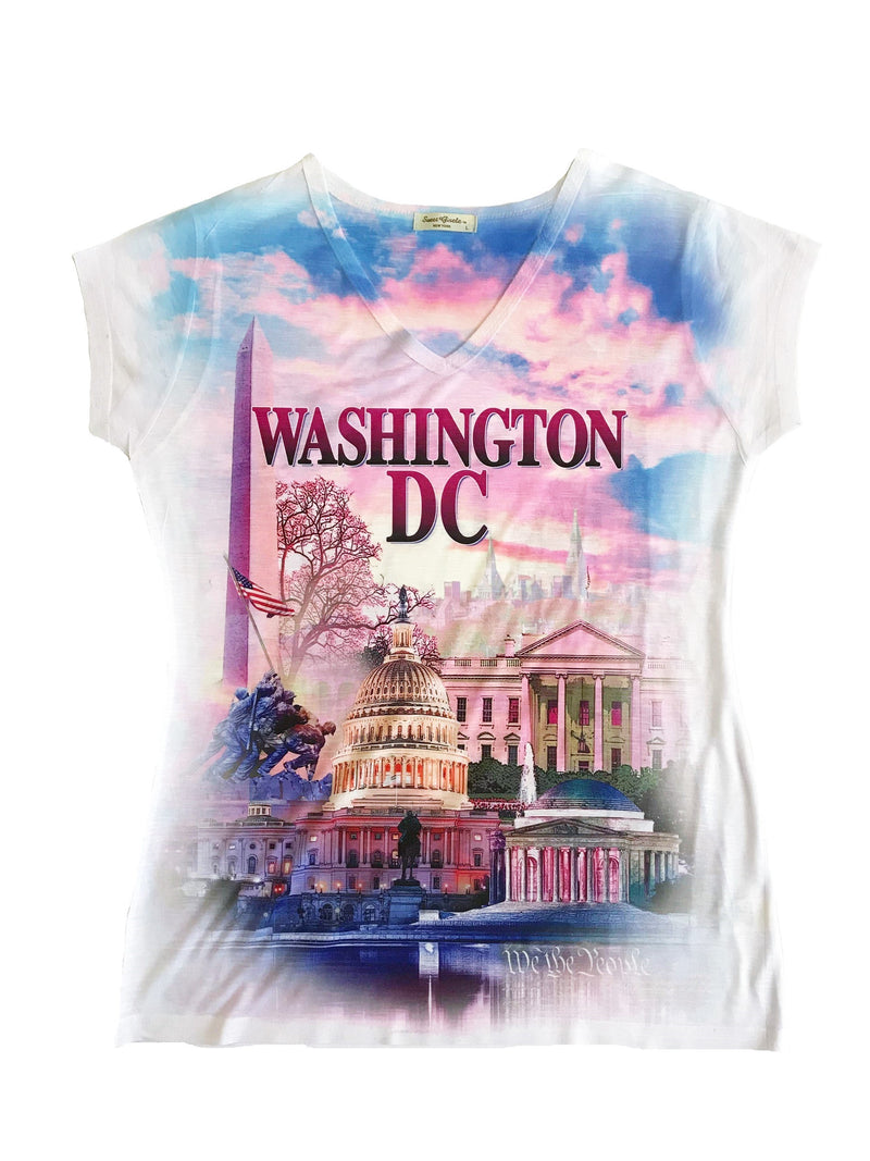 Washington DC Ladies V Neck T-Shirt