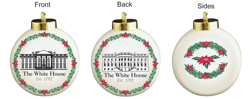 The White House Porcelain Ball Ornament