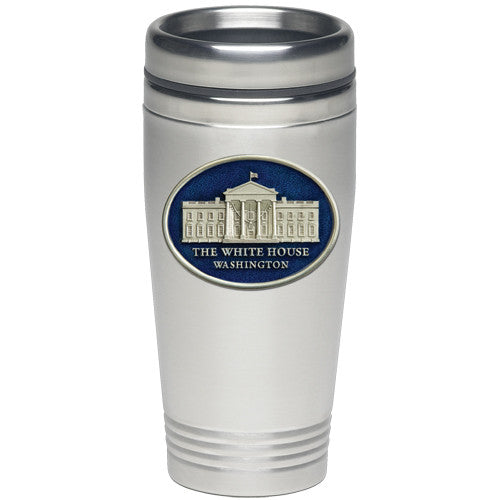 White House Pewter Medallion Thermal Mug