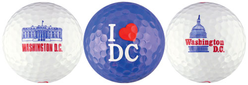 I Love DC Golf Balls