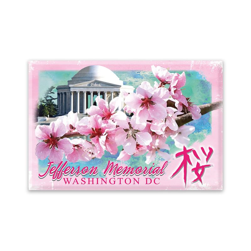 Cherry Blossom Jefferson Memorial Magnet